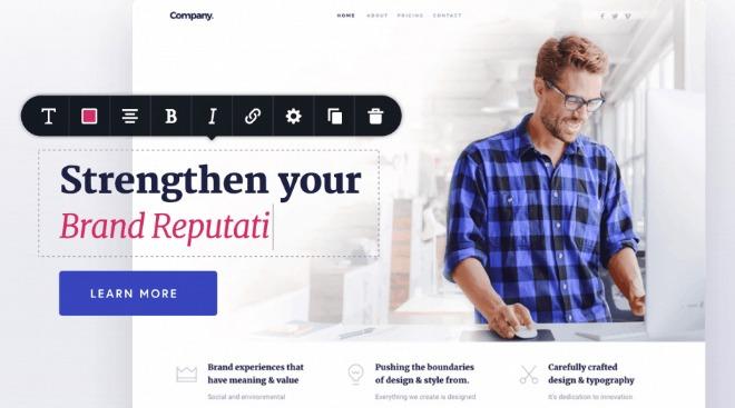 Plugin Brizy Page Builder